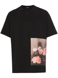 футболка с фото-принтом роз Raf Simons