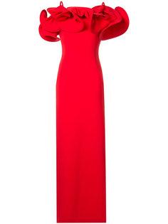 вечернее платье с открытыми плечами Osman