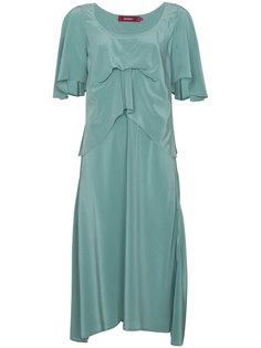 драпированное платье с глубокими разрезами Sies Marjan