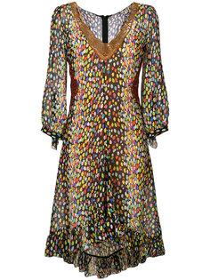 платье с леопардовым принтом Marco De Vincenzo