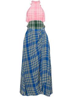 платье халтер в клетку  Rosie Assoulin