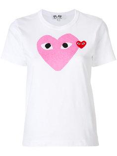 футболка с логотипом-сердцем  Comme Des Garçons Play