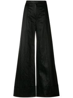 атласные широкие брюки Nina Ricci