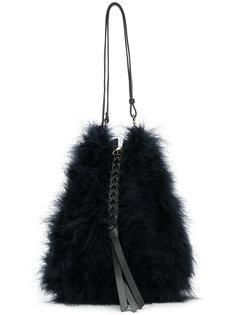 сумка на плечо на молнии с плетеной кисточкой Nina Ricci