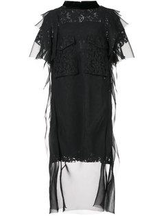 кружевное платье-шифт Sacai