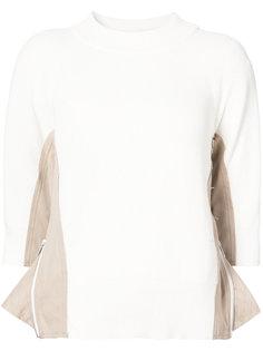свитер с контрастной отделкой  Sacai