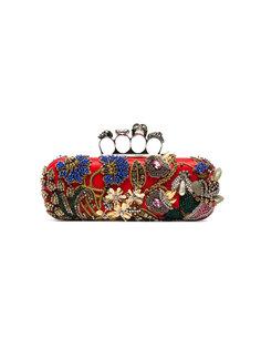 декорированный клатч с вышивкой Alexander McQueen
