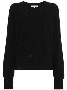 состаренный свитер с V-образным вырезом  Helmut Lang