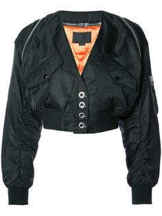 укороченная куртка-бомбер с V-образным вырезом Alexander Wang