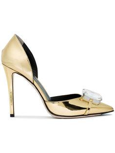 туфли-лодочки с украшением из кристаллов Marco De Vincenzo