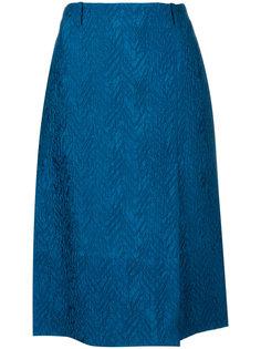 жаккардовая А-образная юбка с шевронным узором  Marni