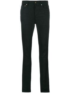 джинсы скинни с вышивкой  Saint Laurent