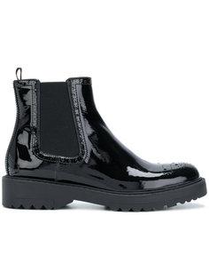 ботинки челси с отделкой брог Prada
