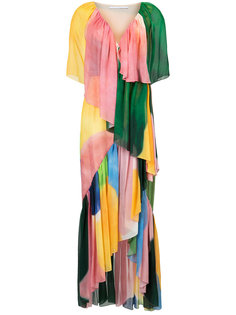платье макси с оборкой  Rosetta Getty