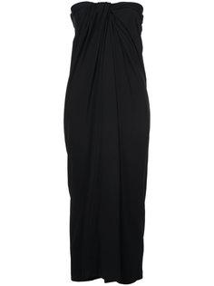 платье без бретелек с драпировкой спереди  Rosetta Getty