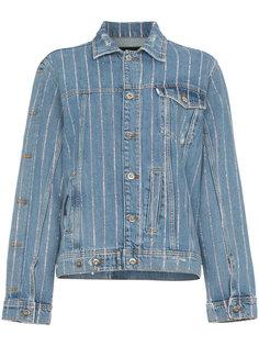 джинсовая куртка с кристаллами  Filles A Papa