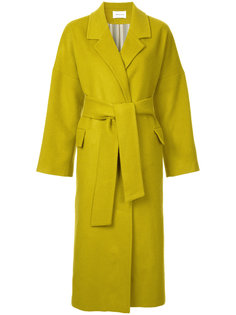 flap pocket belted coat I Am Studio