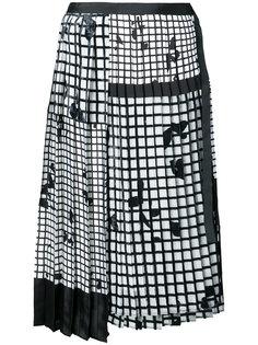 плиссированная юбка с узором Sacai