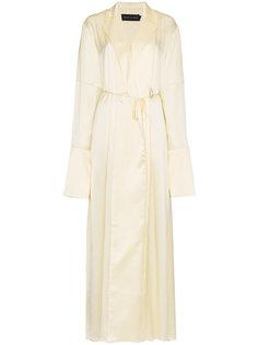 длинное платье  запахом Michael Lo Sordo