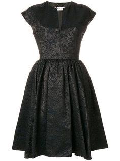 расклешенное платье с поясом Lanvin