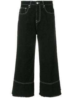 расклешенные укороченные джинсы MSGM