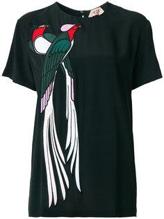 блузка с аппликацией птицы Nº21