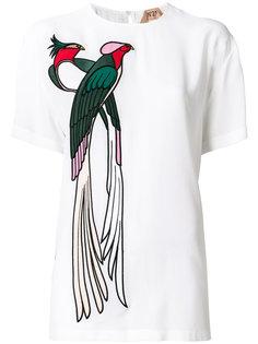 блузка с аппликацией в виде птицы Nº21