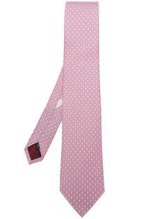 галстук с микро-принтом кроликов Salvatore Ferragamo