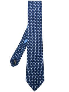 галстук с теннисным микро-принтом  Salvatore Ferragamo