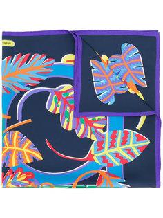 шарф с принтом экзотических листьев Salvatore Ferragamo