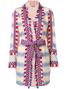 пальто-кардиган в полоску с кисточками  Dodo Bar Or