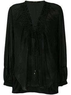 блузка с завязкой на вороте  Roberto Cavalli