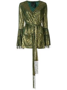 devoré wrap blouse  Anna Sui