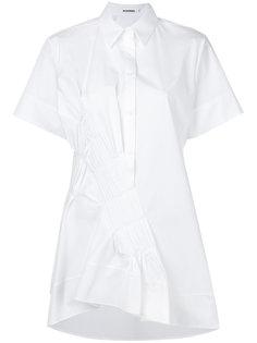 структурированная рубашка с короткими рукавами Jil Sander
