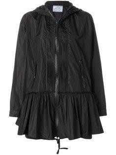 плиссированная расклешенная куртка Prada