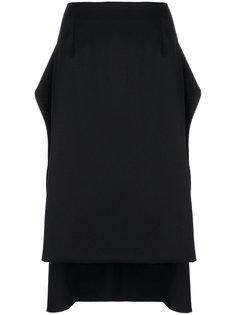 асимметричная юбка Mm6 Maison Margiela