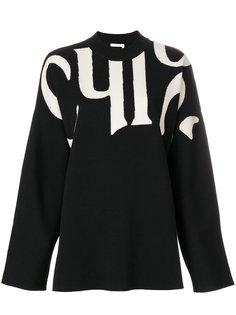 трикотажный свитер в стиле оверсайз Chloé