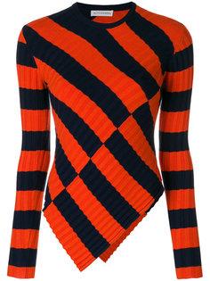 асимметричный свитер в полоску  Altuzarra