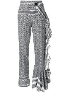 брюки с принтом и оборками  Cecilie Copenhagen