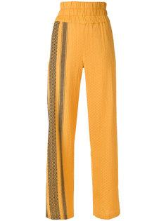 широкие брюки с узором  Cecilie Copenhagen