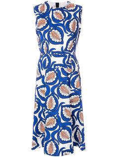 платье с принтом листьев Marni