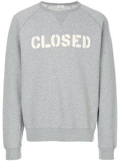 толстовка с логотипом  Closed