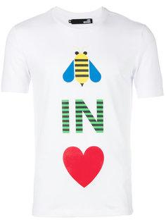 футболка с принтом Be In Love Love Moschino