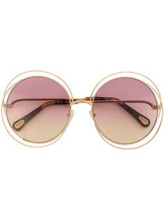 солнцезащитные очки с круглой оправой Chloé Eyewear