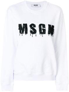 толстовка с логотипом из бисера MSGM
