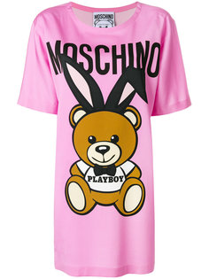 оверсайз-футболка с принтом Playboy Moschino