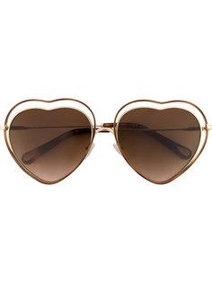 солнцезащитные очки в оправе в форме сердец Chloé Eyewear