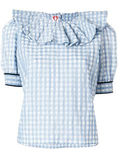 блузка с оборкой на воротнике  Shrimps