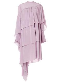 асимметричное ярусное платье  Petar Petrov
