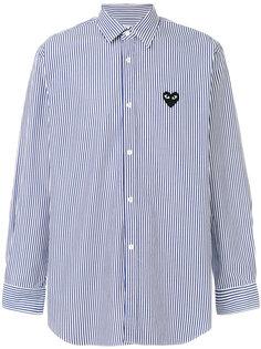 полосаая рубашка с логотипом  Comme Des Garçons Play